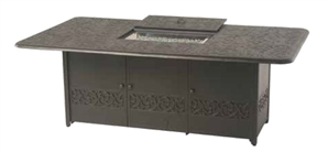 "Hanamint Chateau Outdoor 48"" X 84"" Rectangular Enclosed Gas Fire Pit Dining Height Table"