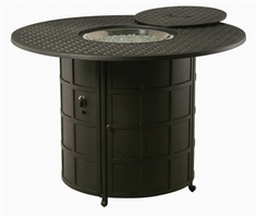 "Hanamint Newport Outdoor 54"" Round Counter Height Enclosed Gas Fire Pit"