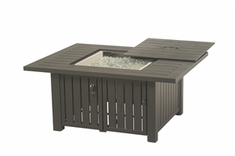 "Hanamint Sherwood Outdoor 44"" X 56"" Rectangular Enclosed Gas Fire Pit Table"