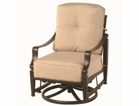 Lancaster By Hanamint Luxury Cast Aluminum Swivel Glider Club Chair