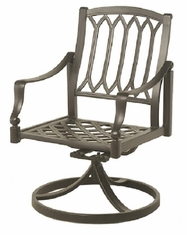 Lancaster By Hanamint Luxury Cast Aluminum Patio Furniture Swivel Dining Chair