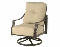 Lancaster By Hanamint Luxury Cast Aluminum Swivel Club Chair