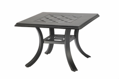 "Madrid By Gensun Luxury Cast Aluminum Patio Furniture 24"" Square End Table"