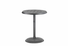 "Madrid By Gensun Luxury Cast Aluminum Patio Furniture 30"" Round Pedestal Dining Table"
