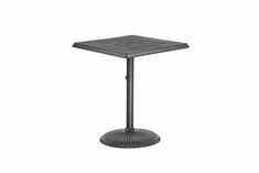 "Madrid By Gensun Luxury Cast Aluminum Patio Furniture 30"" Square Pedestal Balcony Table"
