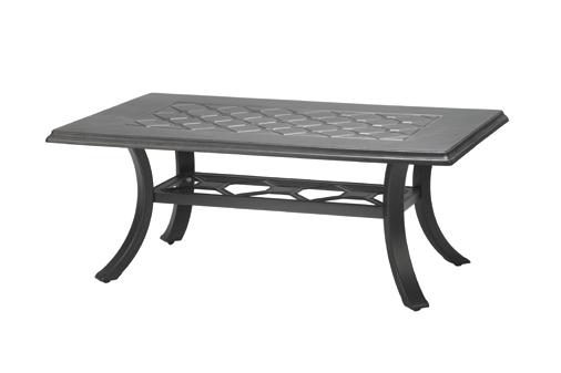 Madrid By Gensun Luxury Cast Aluminum Patio Furniture X - Outdoor rectangular coffee table cover