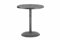 "Madrid By Gensun Luxury Cast Aluminum Patio Furniture 36"" Round Pedestal Dining Table"