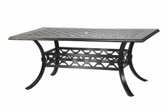 "Madrid By Gensun Luxury Cast Aluminum Patio Furniture 42"" x 63"" Rectangle Dining Table"