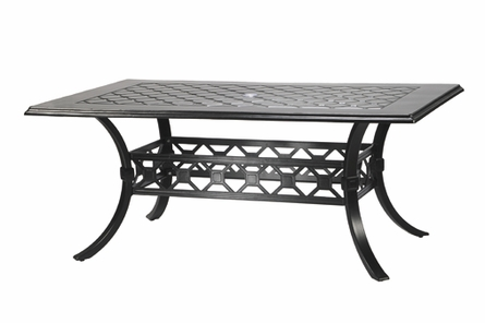 "Madrid By Gensun Luxury Cast Aluminum Patio Furniture 42"" x 72"" Rectangle Dining Table"