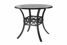 "Madrid By Gensun Luxury Cast Aluminum Patio Furniture 48"" Round Bar Height Table"