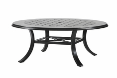 "Madrid By Gensun Luxury Cast Aluminum Patio Furniture 48"" Round Chat Table"