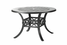 "Madrid By Gensun Luxury Cast Aluminum Patio Furniture 48"" Round Dining Table"