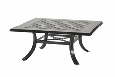 "Madrid By Gensun Luxury Cast Aluminum Patio Furniture 48"" Square Coffee Table"