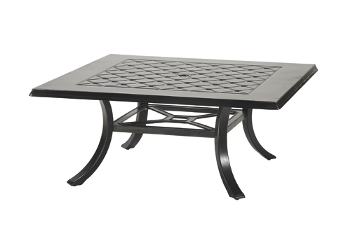 Aluminum Patio Furniture 48 Square Coffee Table Loading Zoom