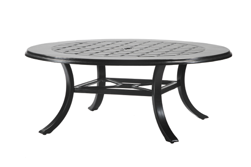 Madrid By Gensun Luxury Cast Aluminum Patio Furniture 54 Round Chat Table