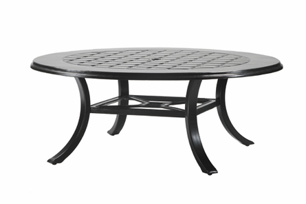 "Madrid By Gensun Luxury Cast Aluminum Patio Furniture 54"" Round Chat Table"