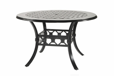 "Madrid By Gensun Luxury Cast Aluminum Patio Furniture 60"" Round Balcony Table"