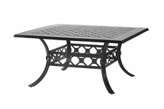 "Madrid By Gensun Luxury Cast Aluminum Patio Furniture 60"" Square Dining Table"