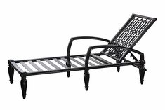 Manhattan By Gensun Luxury Cast Aluminum Patio Furniture Chaise Lounge
