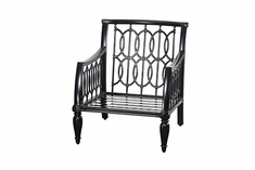 Manhattan By Gensun Luxury Cast Aluminum Patio Furniture Stationary Club Chair