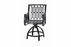 Manhattan By Gensun Luxury Cast Aluminum Patio Furniture Swivel Balcony Chair