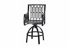 Manhattan By Gensun Luxury Cast Aluminum Patio Furniture Swivel Bar Chair