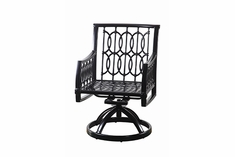 Manhattan By Gensun Luxury Cast Aluminum Patio Furniture Swivel Dining Chair
