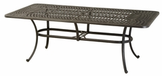 "Mayfair By Hanamint Luxury Cast Aluminum 42"" x 84"" Rectangular Dining Table"