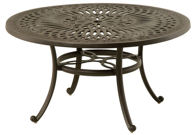 Mayfair by hanamint luxury cast aluminum 54 round dining for Luxury round dining table