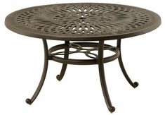 "Mayfair By Hanamint Luxury Cast Aluminum 54"" Round Dining Table W/Inlaid Lazy Susan"