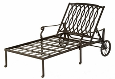 Mayfair By Hanamint Luxury Cast Aluminum Patio Furniture 1 1/2 Chaise Lounge