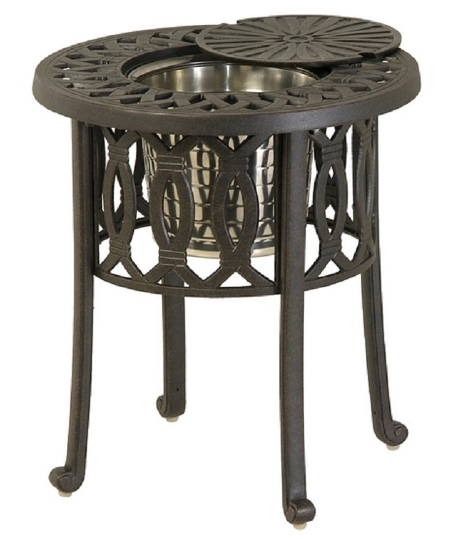 "Mayfair By Hanamint Luxury Cast Aluminum Patio Furniture 20"" Round Ice B"