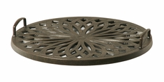 "Mayfair By Hanamint Luxury Cast Aluminum Patio Furniture 21"" Round Serving Tray"