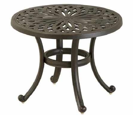 "Mayfair By Hanamint Luxury Cast Aluminum Patio Furniture 24"" Round Tea Table"