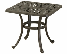 "Mayfair By Hanamint Luxury Cast Aluminum Patio Furniture 24"" Square End Table"