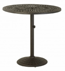 "Mayfair By Hanamint Luxury Cast Aluminum Patio Furniture 42"" Round Pedestal Bar Height Table"