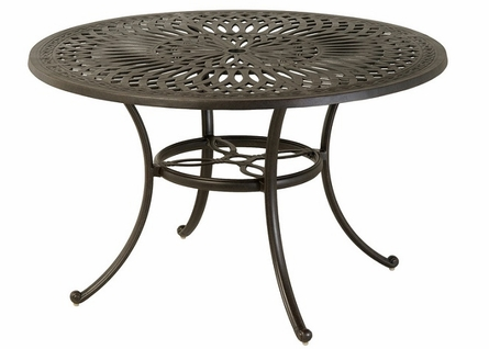 "Mayfair By Hanamint Luxury Cast Aluminum Patio Furniture 48"" Round Dining Table"