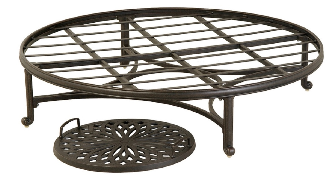 "Mayfair By Hanamint Luxury Cast Aluminum Patio Furniture 48"" Round Ottoman"