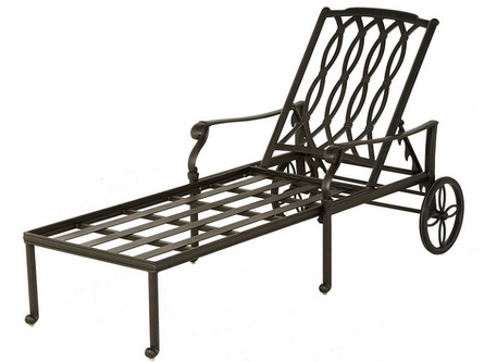 Mayfair By Hanamint Luxury Cast Aluminum Patio Furniture Chaise Lounge