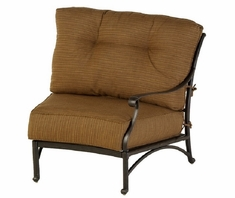 Mayfair By Hanamint Luxury Cast Aluminum Patio Furniture Left Arm Crescent Club Chair