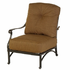Mayfair By Hanamint Luxury Cast Aluminum Patio Furniture Right Arm Club Chair