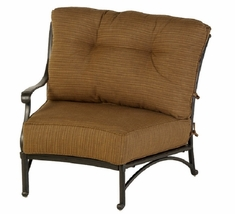 Mayfair By Hanamint Luxury Cast Aluminum Patio Furniture Right Arm Crescent Club Chair