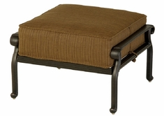 Mayfair By Hanamint Luxury Cast Aluminum Patio Furniture Square Ottoman