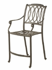 Mayfair By Hanamint Luxury Cast Aluminum Patio Furniture Stationary Counter Height Chair