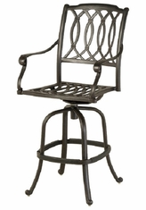 Mayfair By Hanamint Luxury Cast Aluminum Patio Furniture Swivel Bar Height Chair