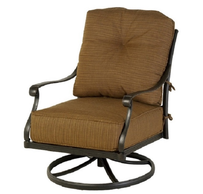 mayfair by hanamint luxury cast aluminum patio furniture swivel club chair - Swivel Patio Chairs
