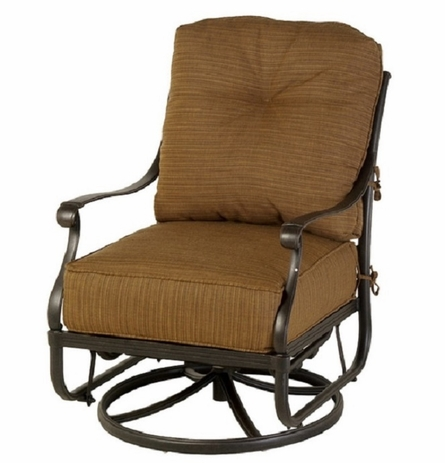 Mayfair By Hanamint Luxury Cast Aluminum Patio Furniture Swivel Glider Club Chair