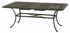 Mayfair By Hanamint Luxury Cast Aluminum Rectangular Extension Dining Table