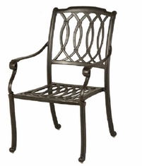 Mayfair By Hanamint Luxury Cast Aluminum Patio Furniture Stationary Dining Chair