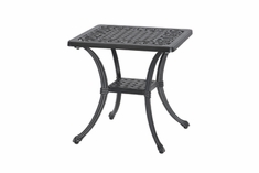 "Michigan By Gensun Luxury Cast Aluminum Patio Furniture 21"" Square End Table"
